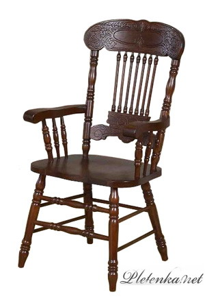 838 A стул деревянный, тёмный орех